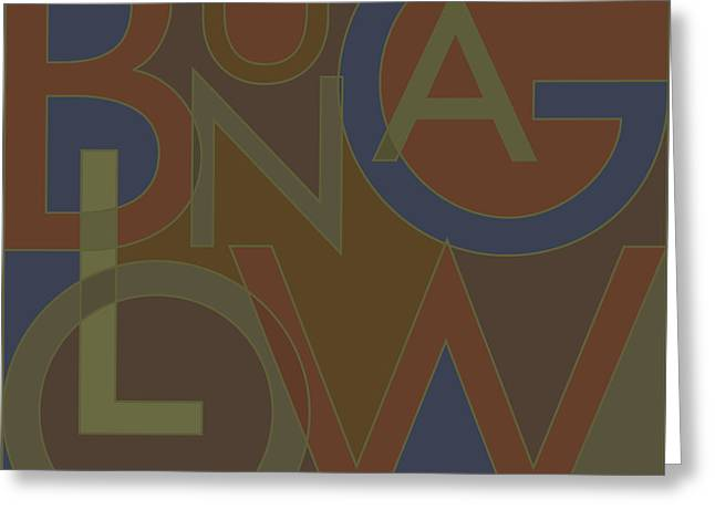 Bungalows Greeting Cards - Bungalow Type Greeting Card by Geoff Strehlow