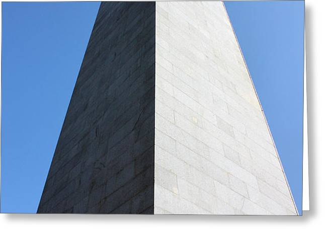 Bunker Hill Monument Greeting Card by Kristin Elmquist