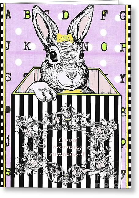 Bunny Baby Licensing Art Greeting Card by Anahi DeCanio