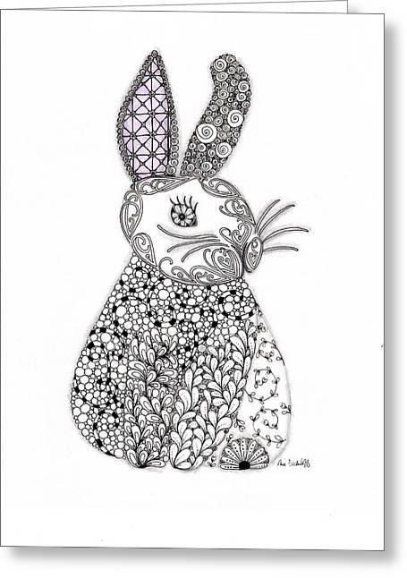 Paula Dickerhoff Greeting Cards - Bunny Too Greeting Card by Paula Dickerhoff