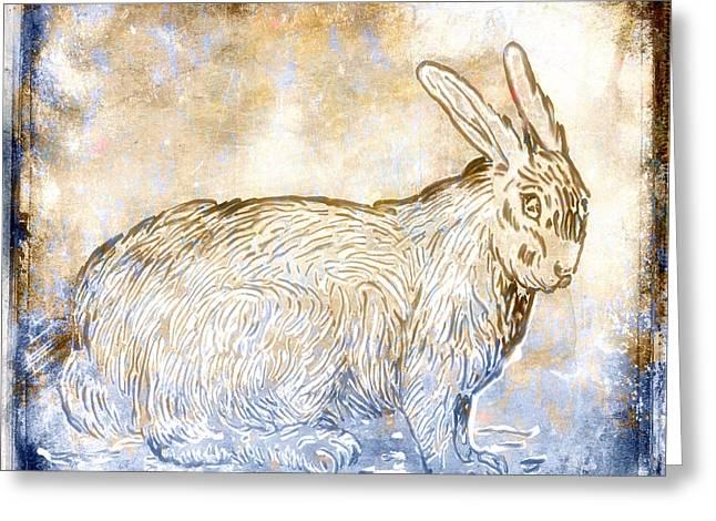 Bunny Van Gogh Greeting Card by Carol Leigh