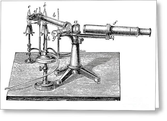 Bunsen-kirchhoff Spectroscopic Greeting Card by Science Source