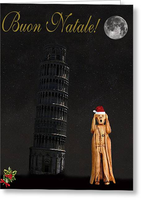 Buon Greeting Cards - Buon Natale Pisa Merry Christmas Greeting Card by Eric Kempson