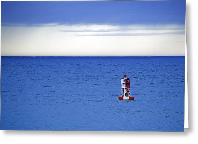 Buoy Off Bass Harbor Head Greeting Card by Rick Berk