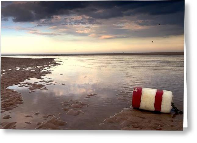 Ground Level Greeting Cards - Buoy On Seashore Greeting Card by John Short