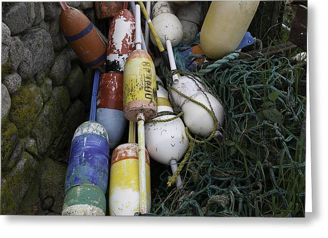 Massachusetts Greeting Cards - Buoys Greeting Card by Kate Hannon