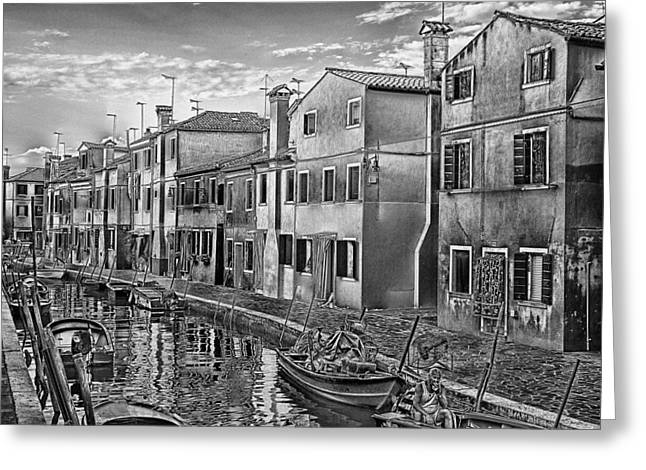 Acrylic Art Pyrography Greeting Cards - Burano 3 Greeting Card by Mauro Celotti