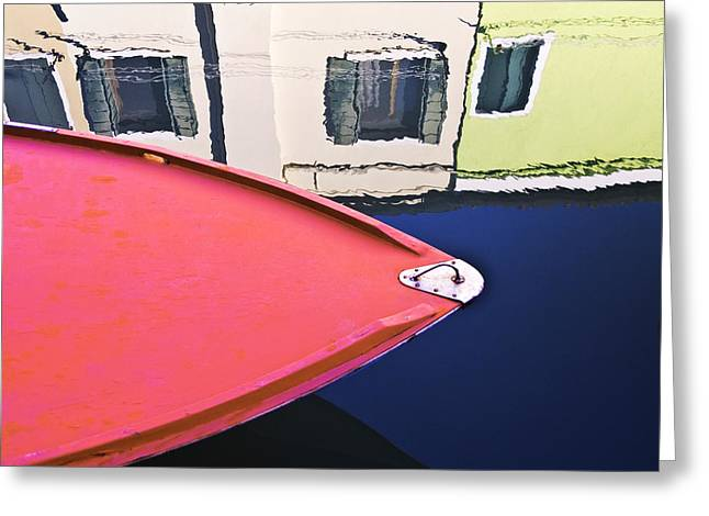 Colorful Photos Mixed Media Greeting Cards - Burano Colorful Art  #1 - Burano Venice Italy Fine Art Photography Greeting Card by Artecco Fine Art Photography