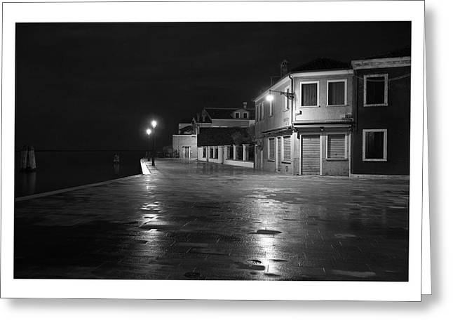 All Blacks Greeting Cards - Burano I - Italy - Black and White Greeting Card by Marco Hietberg