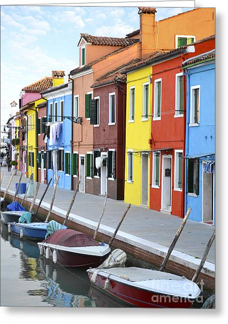 Seafarer Greeting Cards - Burano Italy 2 Greeting Card by Rebecca Margraf