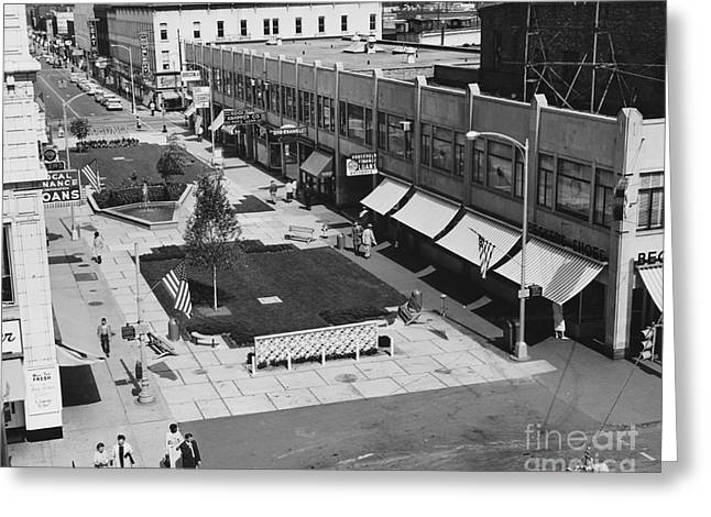 1950-1959 Greeting Cards - Burdick Street Mall Greeting Card by Photo Researchers