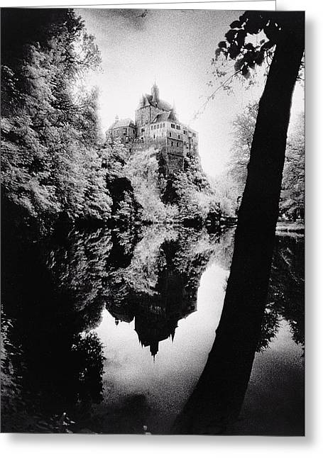 Frightening Castle Greeting Cards - Burg Kriebstein Greeting Card by Simon Marsden
