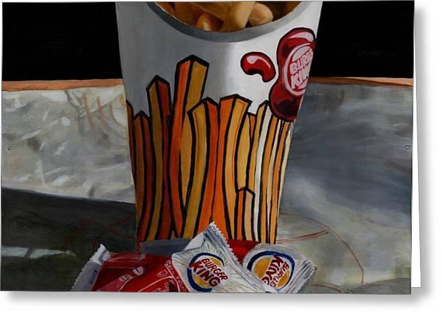 Burger King Value Meal No. 5 Greeting Card by Thomas Weeks