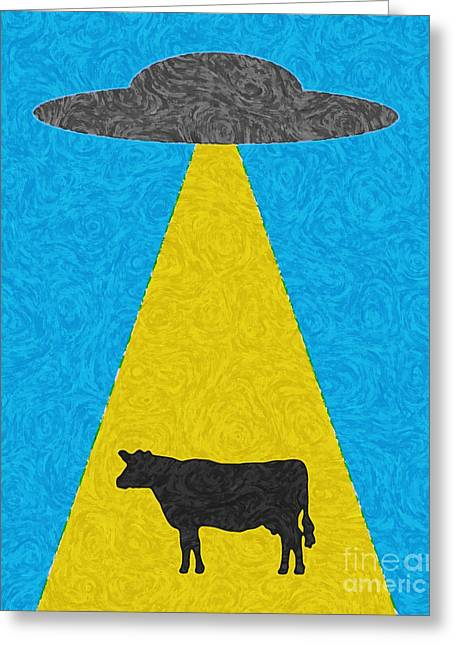 Abduction Digital Art Greeting Cards - Burger to Go Greeting Card by Tony Cooper