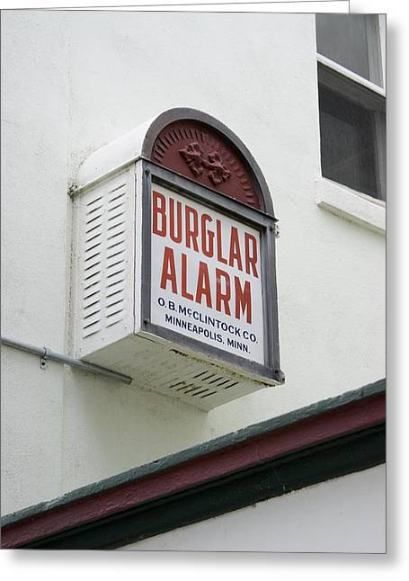 Deterrent Greeting Cards - Burglar Alarm In Cocoa, Florida. Greeting Card by Mark Williamson