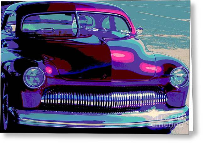 50 Merc Greeting Cards - Burgundy Merc Greeting Card by Chuck Re