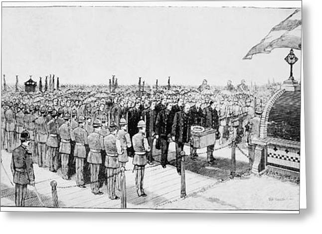 Engraving Greeting Cards - Burial Of Ulysses S. Grant Greeting Card by Granger