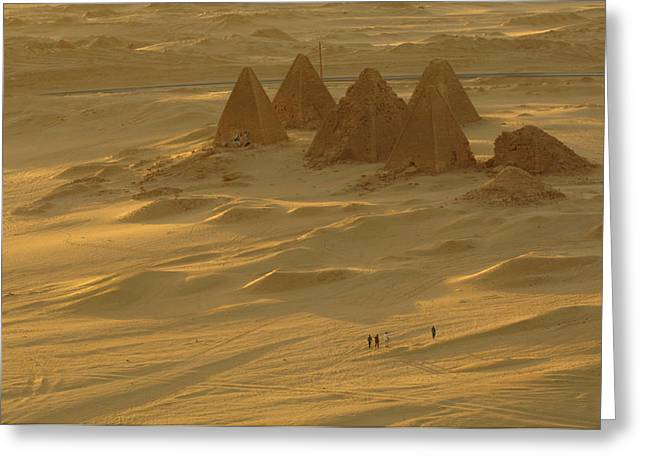 Pharaoh Greeting Cards - Burial Pyramids At Gebel Barkal Greeting Card by Kenneth Garrett