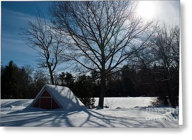 Wayside Inn Greeting Cards - Buried in Snow Greeting Card by Frank Garciarubio