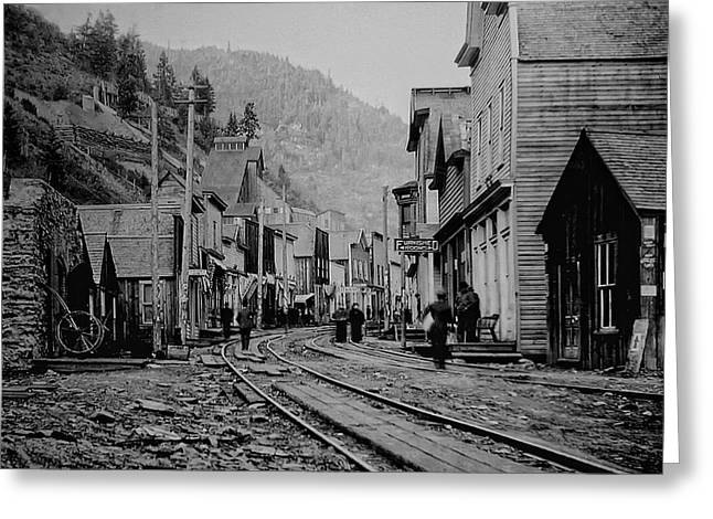 Recently Sold -  - Mining Photos Greeting Cards - BURKE IDAHO GHOST TOWN in its PRIME Greeting Card by Daniel Hagerman
