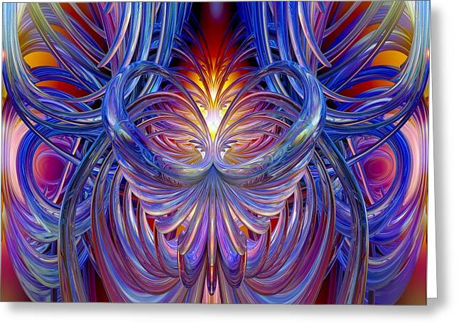 Burning Heart Of Desire Fx  Greeting Card by G Adam Orosco