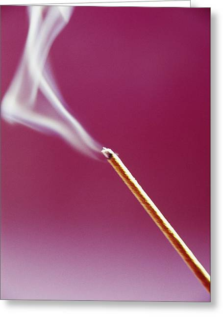 Smoke Trail Greeting Cards - Burning Incense Greeting Card by Cristina Pedrazzini