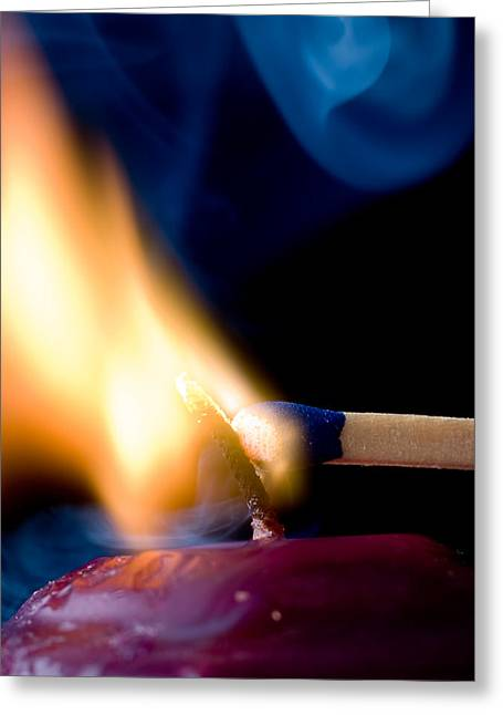 Hot Wax Greeting Cards - Burning Passion Greeting Card by Jim DeLillo