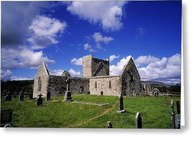 Headstones Greeting Cards - Burrishoole Friary, Co Mayo, Ireland Greeting Card by The Irish Image Collection