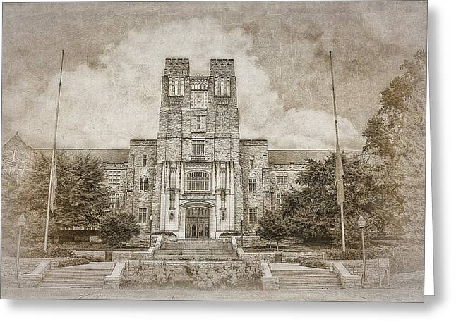 Campus Photographs Greeting Cards - Burruss Hall Series II Greeting Card by Kathy Jennings