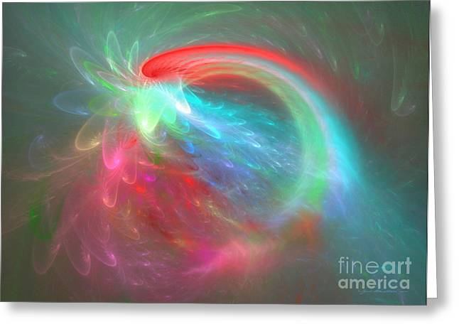 Interior Still Life Mixed Media Greeting Cards - Burst into bloom - abstract art Greeting Card by Abstract art prints by Sipo