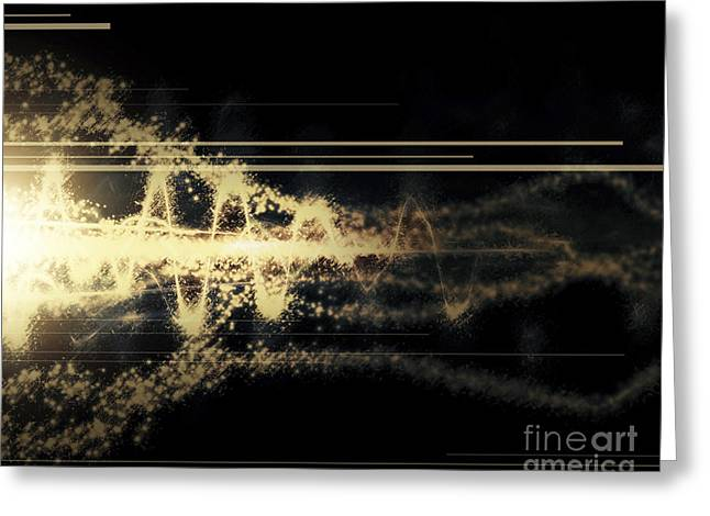 Burst Of Energy Forms Into Powerful Greeting Card by Tomasz Dabrowski