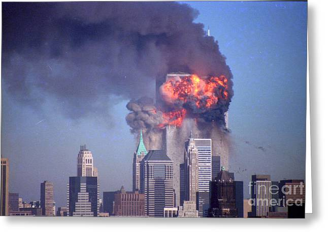 Wtc 11 Greeting Cards - Burst Of Flames Greeting Card by Mark Gilman