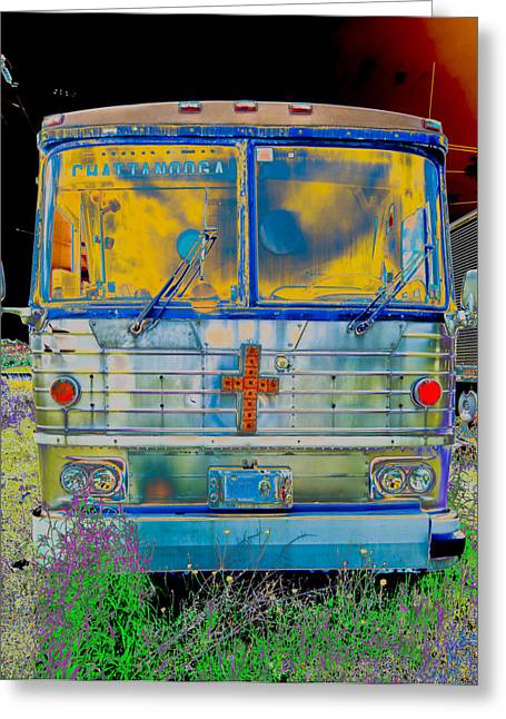 Bus Print Greeting Cards - Bus to Chattanooga Greeting Card by Julie Niemela