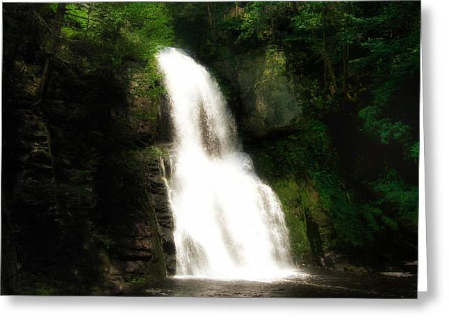 Stream Digital Art Greeting Cards - Bushkill Falls Greeting Card by Bill Cannon