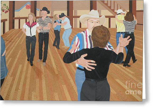 Country Dance Greeting Cards - Bushwackers Forbidden Fruit  and Stray Cats Greeting Card by Christine Belt