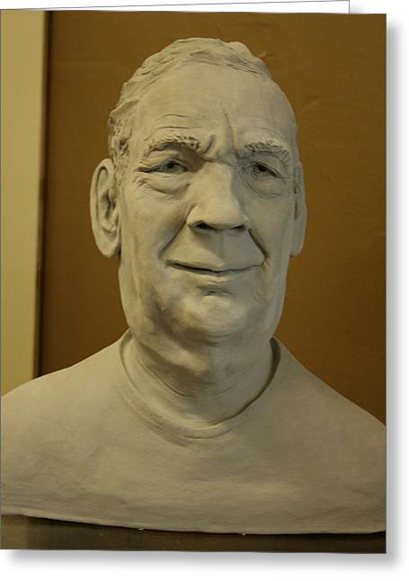 Bust Sculptures Greeting Cards - Bust Sculpture Greeting Card by Terri  Meyer