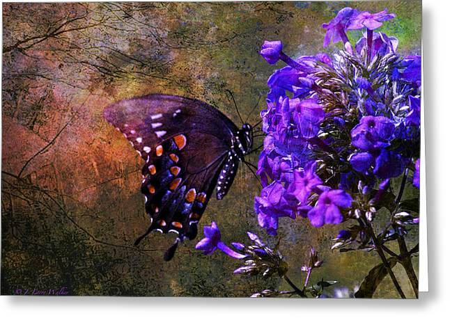 Busy Spicebush Butterfly Greeting Card by J Larry Walker