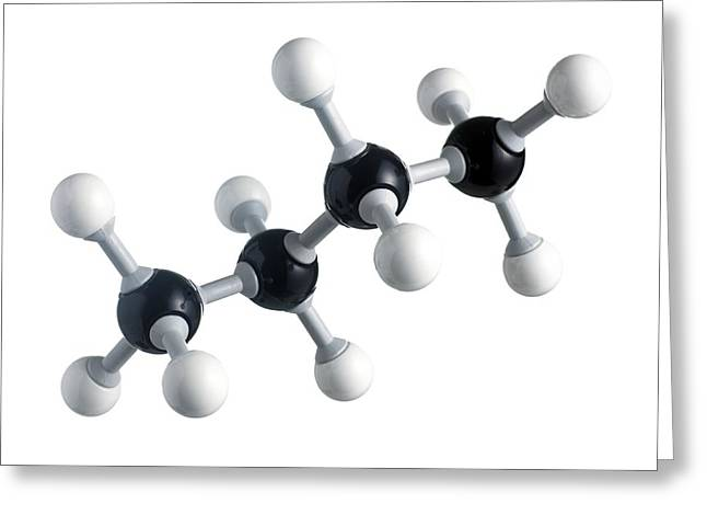 Butane Molecule Greeting Card by