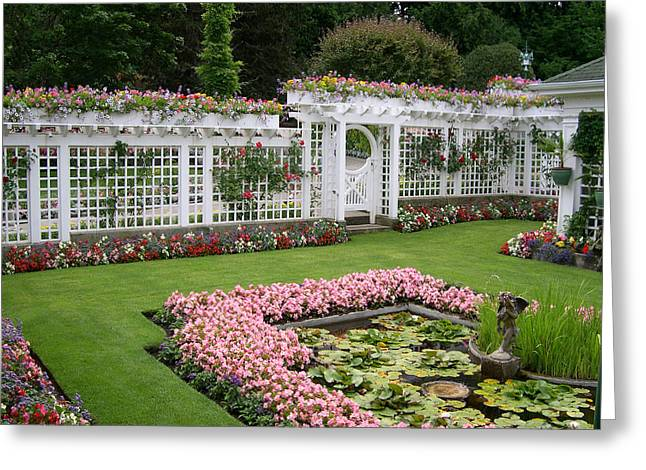 Butchart Gardens Greeting Cards - Butchart garden Greeting Card by Claude McCoy