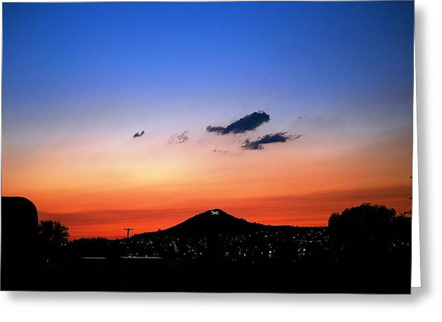 Sunset Posters Greeting Cards - Butte Montana Sunset Greeting Card by Kevin Bone