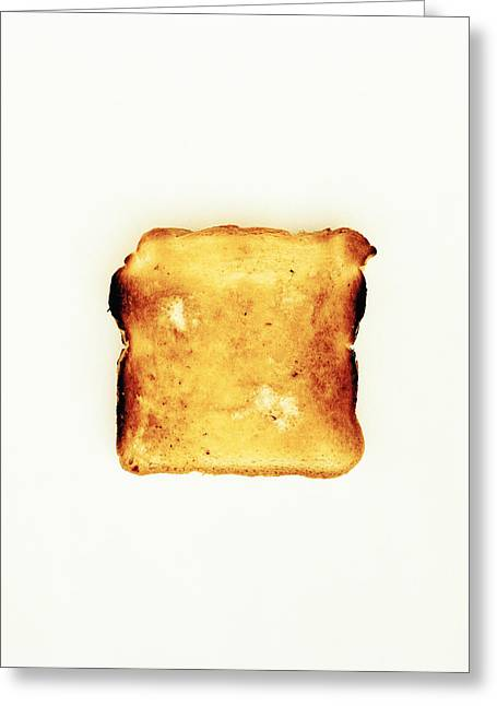 Toast Greeting Cards - Buttered Toast Greeting Card by Kevin Curtis