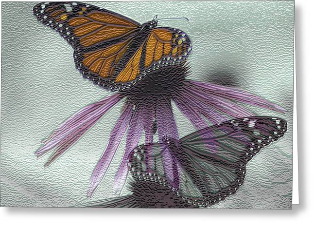Butterfly Digital Art Greeting Cards - Butterflies under glass Greeting Card by Evelyn Patrick