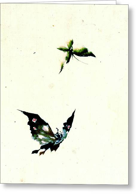 Sketchbook Photographs Greeting Cards - Butterfly and Moth 1840 Greeting Card by Padre Art