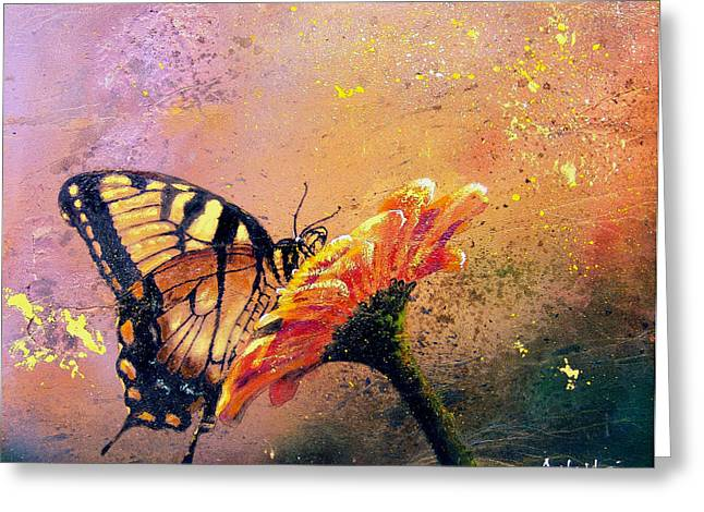 Butterflies Paintings Greeting Cards - Butterfly Greeting Card by Andrew King