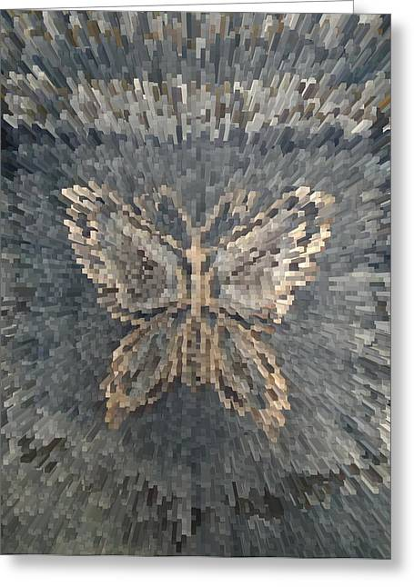 Beauty Tapestries - Textiles Greeting Cards - Butterfly background. Greeting Card by Panyanon Hankhampa