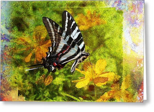 Butterfly Digital Art Greeting Cards - Butterfly Beauty Greeting Card by J Larry Walker