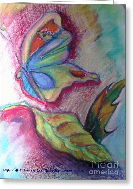 Butterflies Pastels Greeting Cards - Butterfly Beauty Greeting Card by Jamey Balester