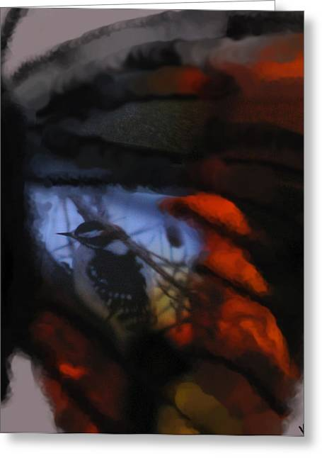 Photos Of Autumn Mixed Media Greeting Cards - Butterfly Birds Collection  Greeting Card by Debra     Vatalaro