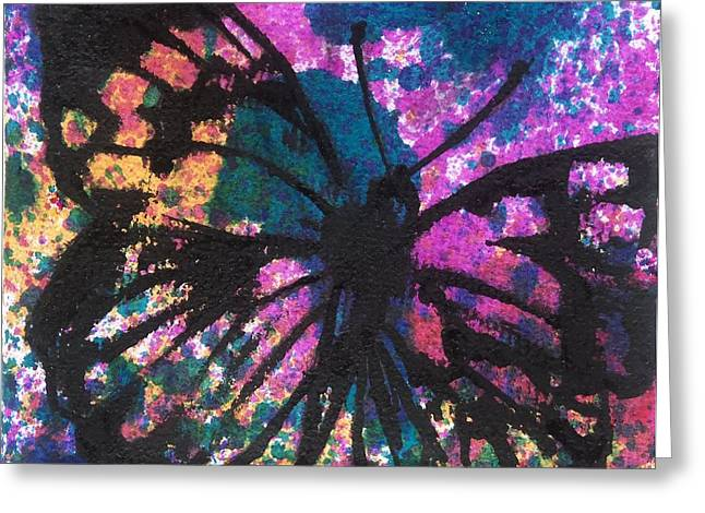 Butterfly Bliss Greeting Card by Oddball Art Co by Lizzy Love