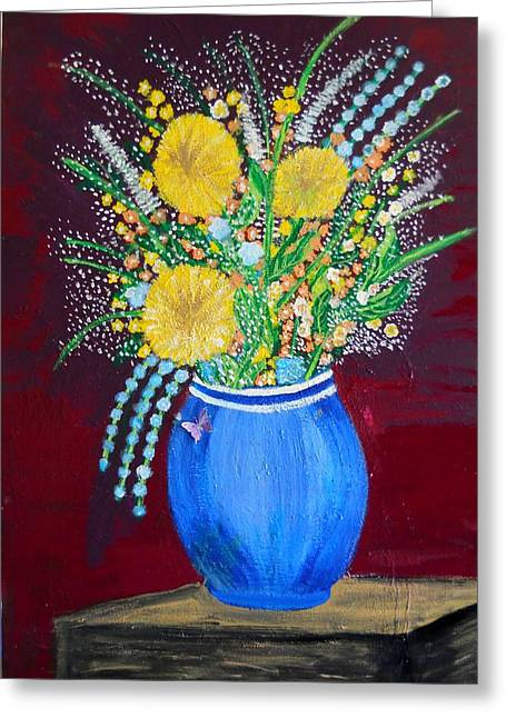 Nyc Posters Paintings Greeting Cards - Butterfly Bloom Greeting Card by Suzanne Thomas